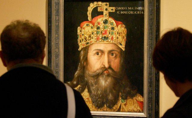 Čeprav so bili v štirih desetletjih njegove vladavine redki časi, ko ni vodil vojn ali nasilno pokristjanjeval, je Karel Veliki vendarle združil večino tedanje srednje Evrope. Foto: Reuters