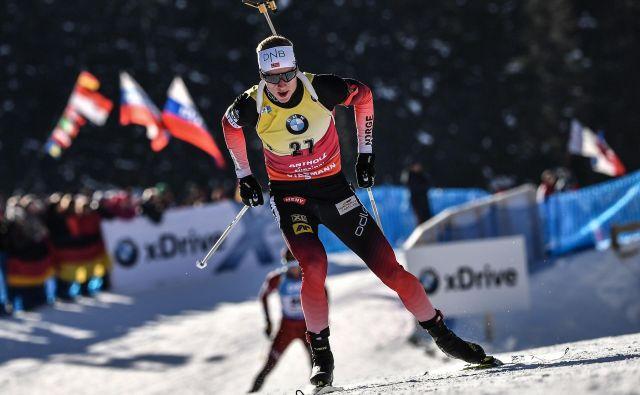 Johannes Thingnes Bø je zmagal že desetič v sezoni, petič v šprintih. FOTO:Marco Bertorello/AFP