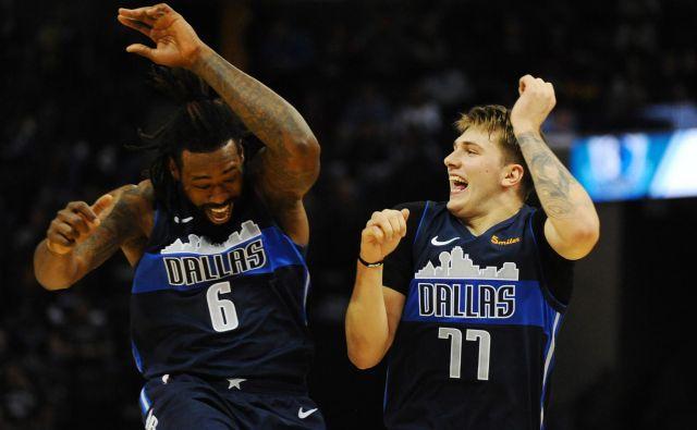 Luka Dončić in DeAndre Jordan še nista prinesla Dallasu želenih rezultatov. FOTO: USA Today