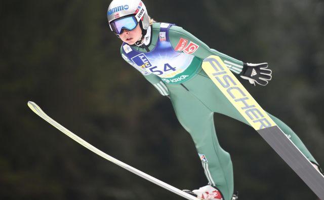 Maren Lundby je bila lani najboljša skakalka sezone. FOTO: Tomi Lombar/Delo