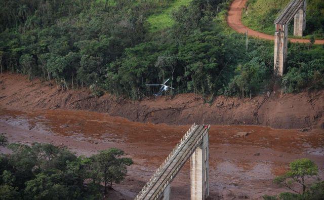 Leta 2015 se je v državi Minas Gerais prav tako zrušil jez, ki je bil v lasti podjetja Vale. FOTO: Douglas Magno/AFP