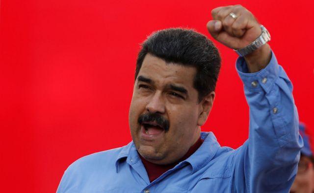 »Venezuela ni vezana na Evropo. To je predrznost,« je dodal Maduro. FOTO: Carlos Garcia Rawlins/Reuters