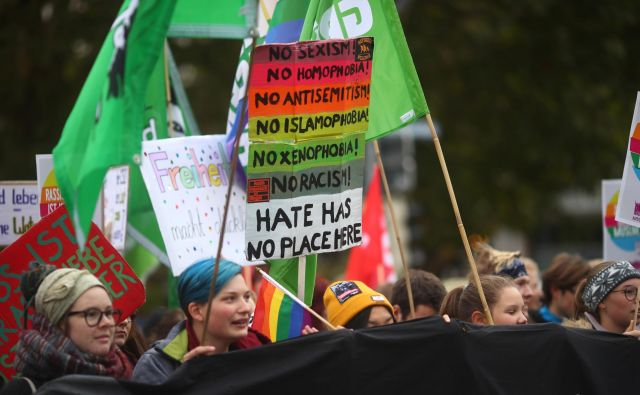 Lanskoletni protesti proti populizmu, Munchen. FOTO: Michael Dalder/Reuters
