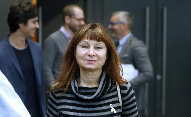 V soboto je Evropska levica za vodilna kandidata potrdila Violeto Tomič, poslanko in namestnico koordinatorja Levice, ter nekdanjega generalnega sekretarja Zveze kovinarjev Belgije (MWB-FTGB) Nica Cueja. FOTO: Blaž Samec/Delo