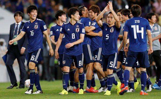 Japonski nogometaši so v polfinalu azijskega prvenstva s 3:0 premagali Iran. FOTO: Reuters