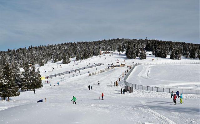 Otroški snežni park Uniorček. FOTO: Brane Piano