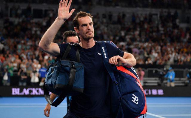 Andy Murray se je hitro poslovil na OP Avstralije. FOTO: AFP