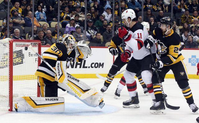 Strelci New Jerseyja se razigrajo le proti Pittsburghu. FOTO: Reuters