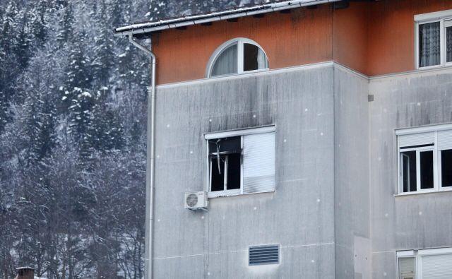 Zagorelo je v tretjem nadstropju. FOTO: Voranc Vogel