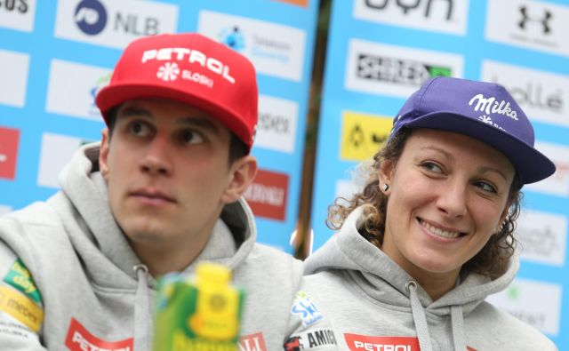 Žan Kranjec in Ilka Štuhec sta glavna aduta slovenske reprezentance na bližajočem se SP. FOTO: Tomi Lombar/Delo