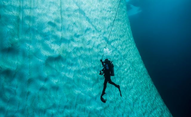 Nad vodo je samo vrh, pod gladino pa je ledena gora res gora. Foto Nathalie Lasselin