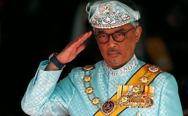 Sultana Abdulaha iz zvezne države Pahang so malezijske kraljeve družine za novega kralja izbrale prejšnji teden, kronanje v Kuala Lumpurju je bilo danes. FOTO: Lai Seng Sin/Reuters