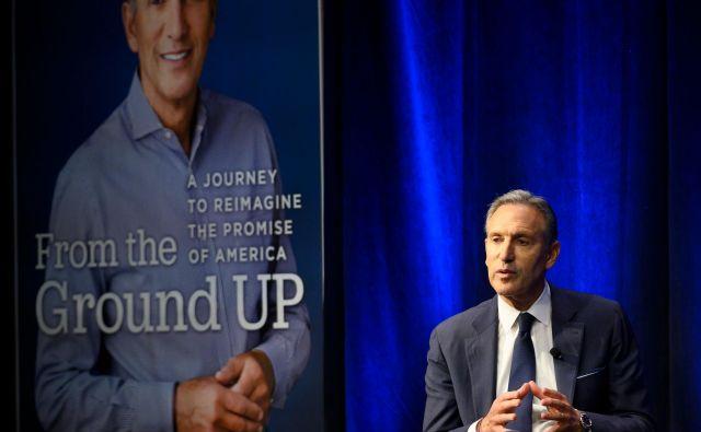 Kot neodvisni kandidat Howard Schultz ne bi imel nobene možnosti za zmago na ameriških predsedniških volitvah, a to ne pomeni, da nanje ne bi imel nobenega vpliva. FOTO: AFP