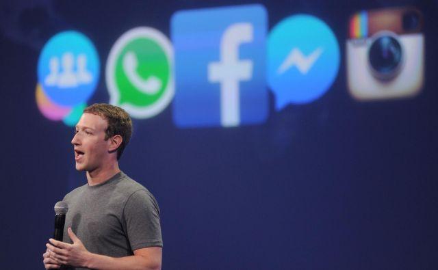Zuckerbergovo premoženje je ocenjeno na 62 milijard dolarjev. Foto AFP