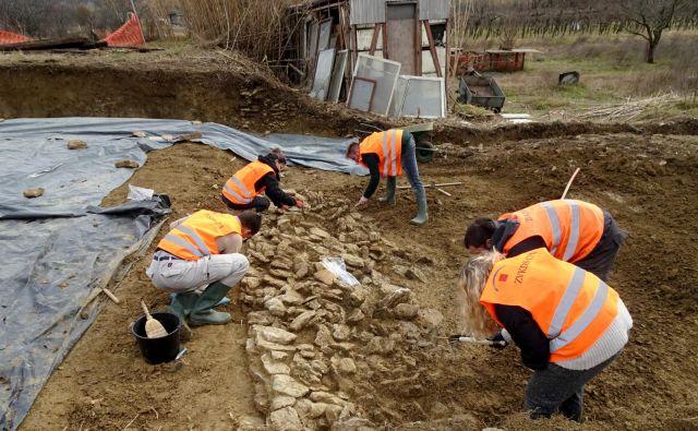 Arheologi Zavoda za varstvo kulturne dediščine morajo izkopavanja na trasi drugega tira končati do konca septembra. FOTO: Miha Murko