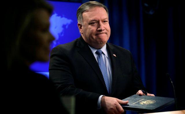 Ameriški zunanji minister Mike Pompeo je uradno obvestil Rusijo, da bodo ZDA čez pol leta odstopile od sporazuma INF. Foto: Reuters