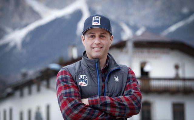 Mike Day je glavni trener v petčlanski ekipi zvezdnice Mikaele Shiffrin. FOTO: Matej Družnik/Delo