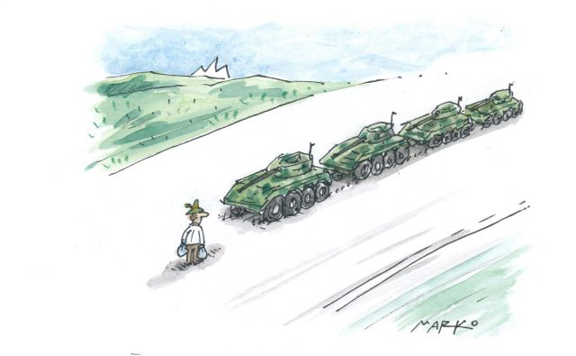 Karikatura: Marko Kočevar Foto M