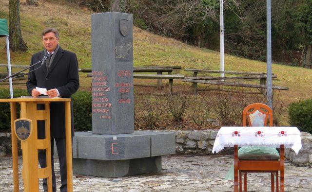Slavnostni govornik ob pomniku Geoss je bil predsednik republike Borut Pahor. FOTO: Bojan Rajšek/Delo