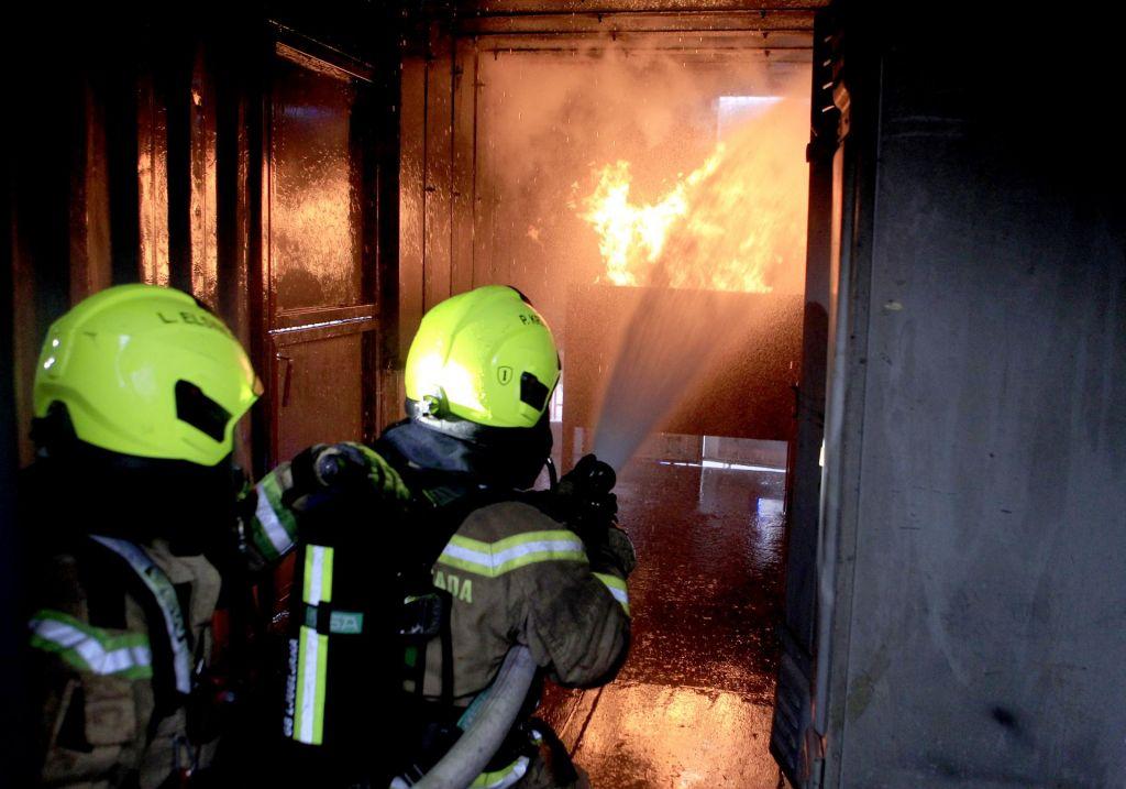 Zagorelo je v kraju Žaga, ena oseba izgubila življenje