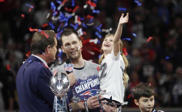 Tom Brady je postal edini igralec s šestimi naslovi prvaka. Ta naslov je bila izjemna motivacija za naprej, je povedal po tekmi. FOTO: Kevin Lamarque/Reuters