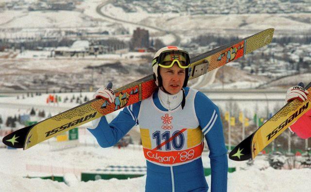»Leteči Finec« je na skakalnicah in letalnicah osvojil vse, kar se je dalo. Razred zase je bil na olimpijskih igrah v Calgaryju leta 1988. FOTO: AFP