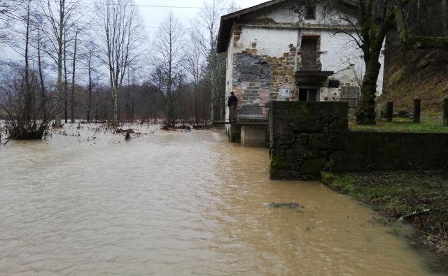 Poplave v Ilirski Bistrici FOTO: PU Koper
