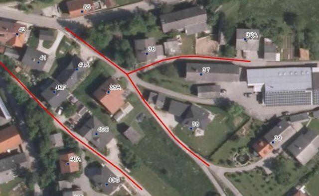 Načrt gradnje kanalizacije v delu medvoške občine FOTO: Občina Medvode
