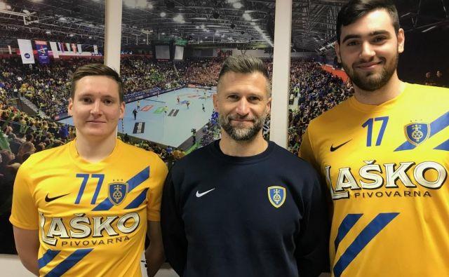 Domen Novak (levo) in Stefan Žabić bosta poleti okrepila ekipo Tomaža Ocvirka.Foto CPL