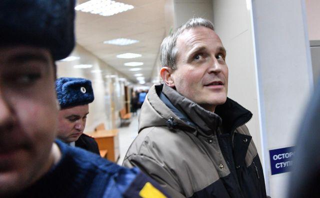 Dennis Christensen je dobil šest let zapora v državipod dolgoletnim oblastnim škornjem čedalje bolj avtoritarnega predsednika Vladimirja Putina. Foto AFP