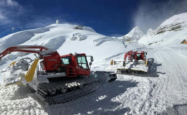Na Kaninu je zdaj skoraj tri metre snega. Foto Facebook Kanin-Sella Nevea