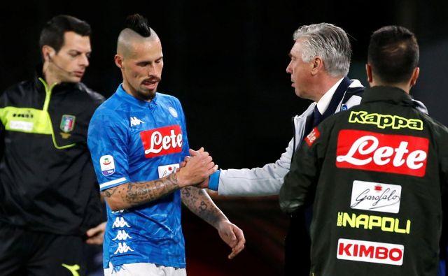 Marek Hamšik je v sboto igral zadnjih 74 minut za Napoli in v italijanskem prvenstvu. FOTO: Reuters