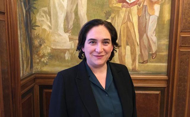 Županja Barcelone Ada Colau se bo na majskih volitvah potegovala za drugi mandat na čelu katalonske prestolnice. FOTO: Gašper Završnik