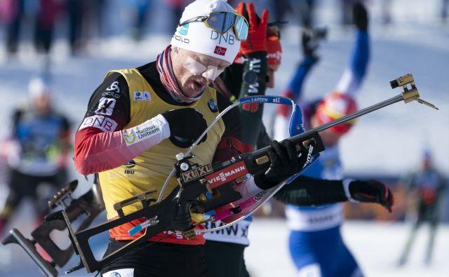 Johannes Thingnes Bø je tudi v ekstremnem mrazu dokazal svojo moč. FOTO: Don Emmert/AFP