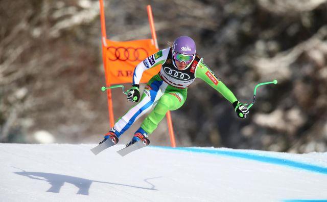 Ilka Štuhec je v Åreju smučala blizu popolnosti in še drugič postala smukaška svetovna prvakinja.<br /> FOTO Reuters