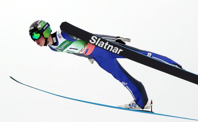 Anže Semenič je med Slovenci skočil najdlje. Foto: Marko Feist/Slovenske novice