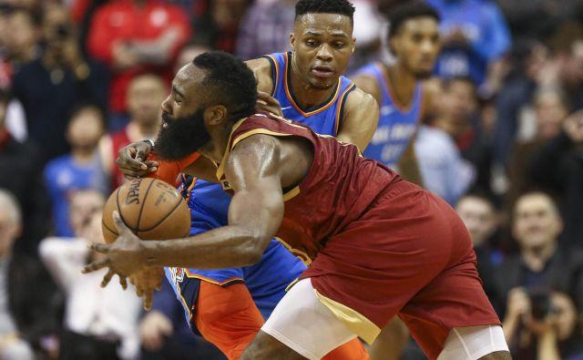 Russell Westbrook in James Harden podirata rekorde v ligi NBA. FOTO: Troy Taormina/Reuters