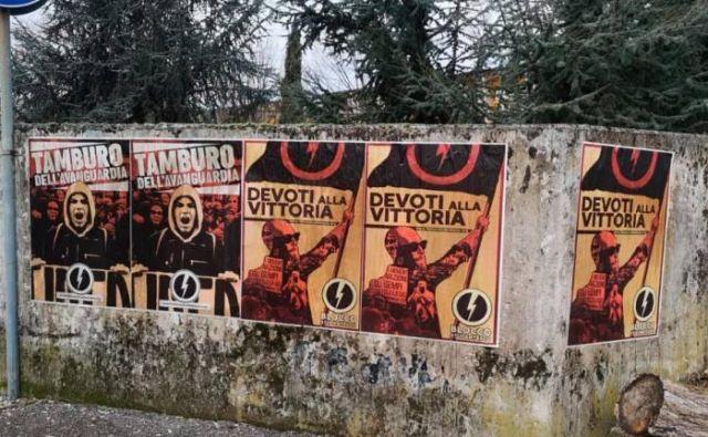 Blocco studentesco je mladinska veja italijanskega skrajno desničarskega gibanja CasaPound.FOTO: Primorski dnevnik