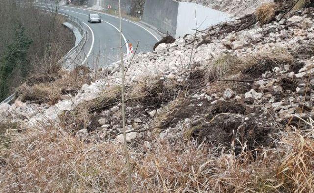 Podor na cesti Trbovlje-Zagorje: FOTO: Pavle Hevka