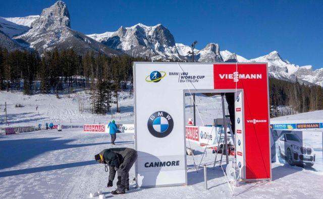 V Canmoru zaradi hudega mraza niso mogli pripraviti šprinterske tekme.<br /> FOTO AFP