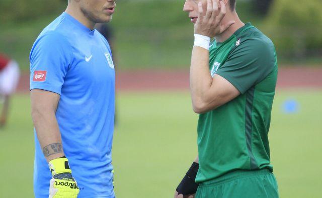 Kapetan Nejc Vidmar (levo) spomladi morda ne bo več vodil Andreja Vombergarja. FOTO: Roman Š�ipić/Delo