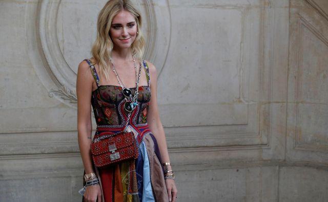 Italijanka v Parizu. Na tednu mode. FOTO: Reuters