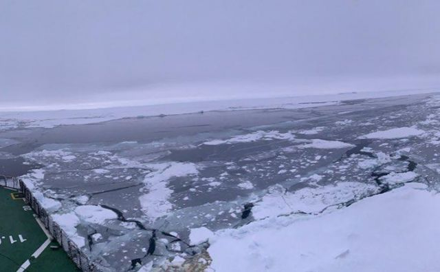 Agulhas II je priplul na kraj, kjer je potonila Endurance. FOTO: Weddell Sea Expedition 2019