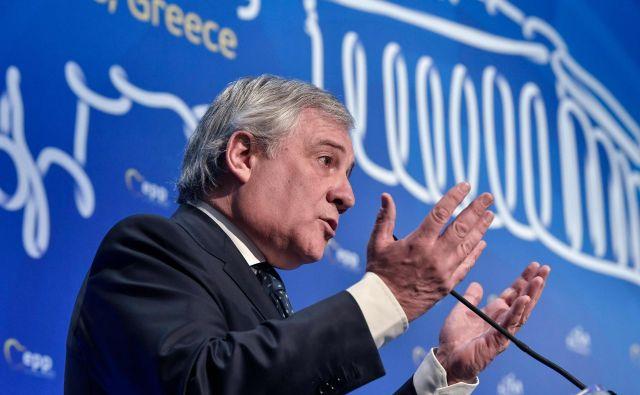 Predsednik evropskega parlamenta Antonio Tajani.<strong></strong>FOTO: Louisa Gouliamaki Afp