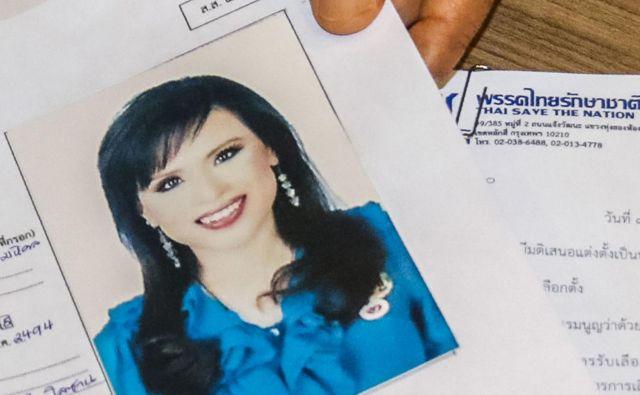 Princesa bi nastopila v imenu stranke Thai Raksa Čart, ki je tesno povezana z največjim sovražnikom hunte, nekdanjim premierom Taksinom Šinavatro. FOTO: AFP