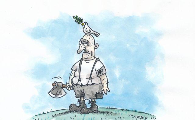 (Ne)Mir. Karikatura Marko Kočevar