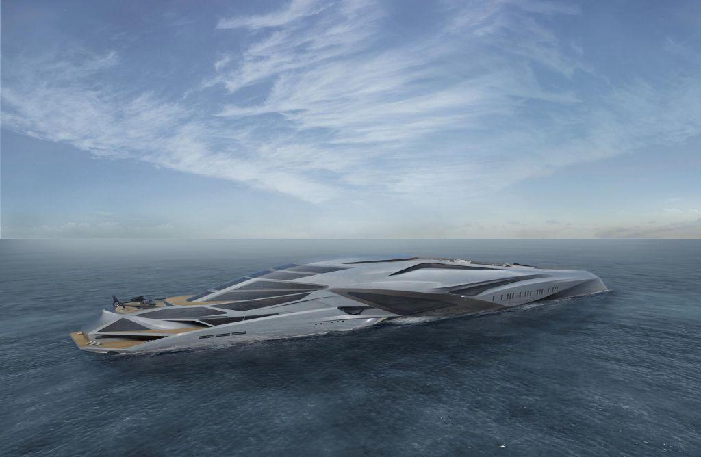 FOTO:Plavajoče zabavišče, ki bi lahko postalo največja jahta na svetu