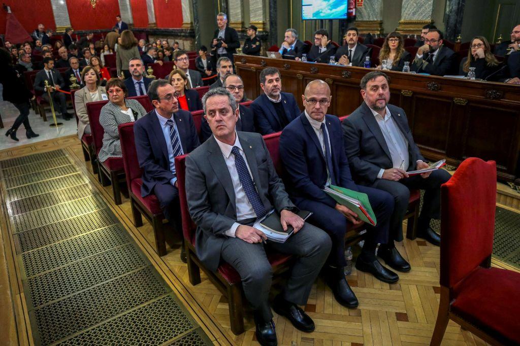 Začetek sojenja katalonskim voditeljem