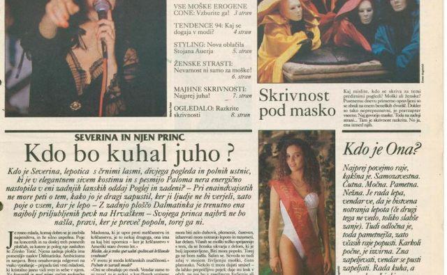 Prvič je priloga Ona izšla na današnji dan ped 25 leti; 15. februarja 1994. Osem strani sredi Slovenskih novic... Foto Naslovnica