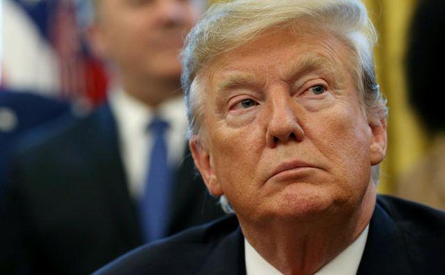 Ameriški predsednik Donald Trump je za izgradnjo spornega zidu od kongresa zahteval 5,7 milijarde dolarjev. FOTO: REUTERS/Leah Millis